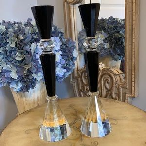Pair of Gorgeous Shannon Crystal Candle Holders